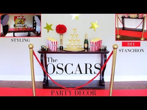 The Oscars Party Decor Ideas | DIY Stanchion | DIY Oscar Statue | DIY Party Ideas