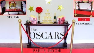 The Oscars Party Decor Ideas | DIY Stanchion | DIY Oscar Statue