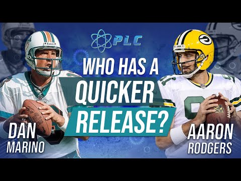Which Quarterback has a quicker release? Dan Marino or Aaron Rodgers