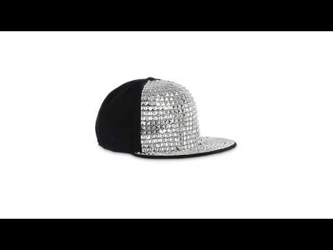Wholesale Rockstar Hollywood Silver Stud Kids Cap Red