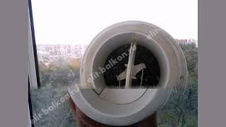 видео Вентиляция на балконе своими руками