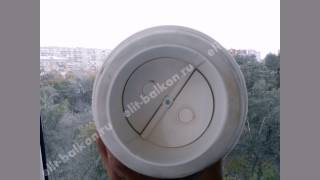 Избавим от конденсата на балконе!! Вентиляционный клапан на балкон от Элит Балкон!!(http://www.elit-balkon.ru/pochemu-poteyut-okna-kondensat Правильная вентиляция на балконе или лоджии. Избавим от запотевания на балк..., 2015-07-17T12:26:13.000Z)