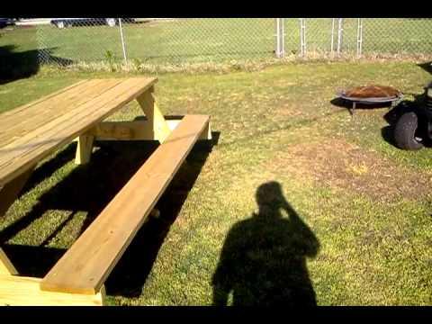 HUGE Picnic Table YouTube - Huge picnic table
