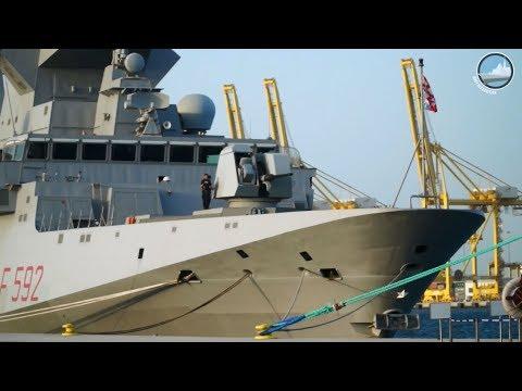 Italian Navy FREMM Frigate Carlo Margottini at DIMDEX 2018 - Qatar