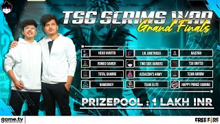 FREEFIRELIVE TSG GRAND FINALS - INDIAN TOP TEAMS & YOUTUBERS TOURNAMENT || Powered By Game.tv
