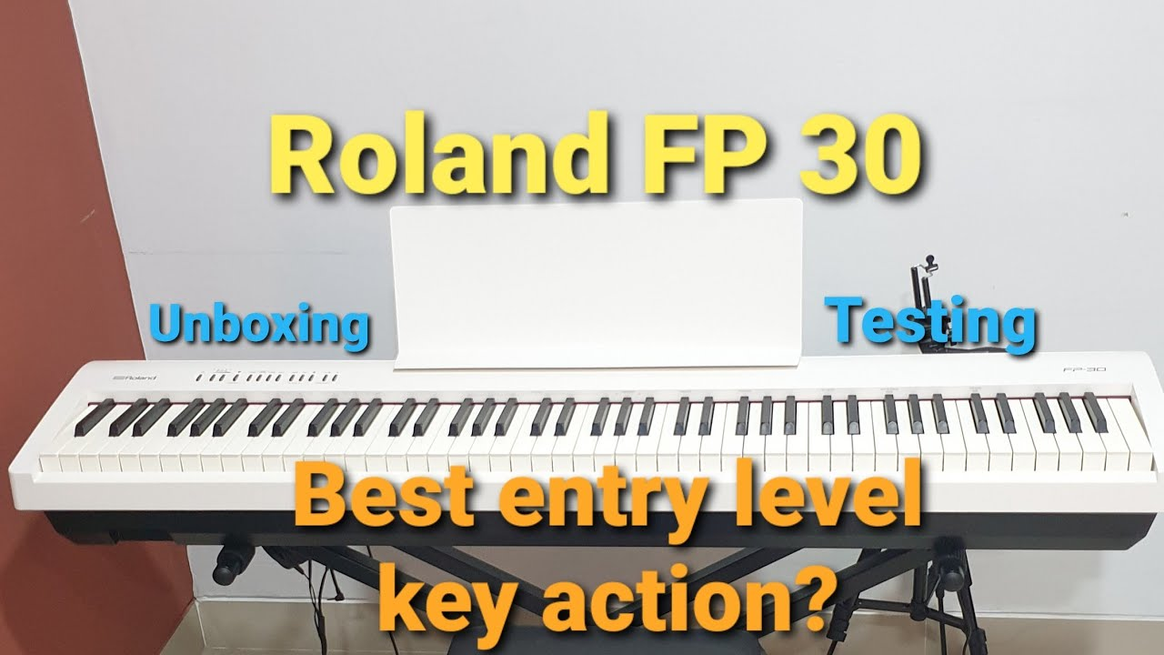 Roland Fp 30 Digital Piano Unboxing Layering And Switch Sound Cutt Off Test Review Indonesia Youtube