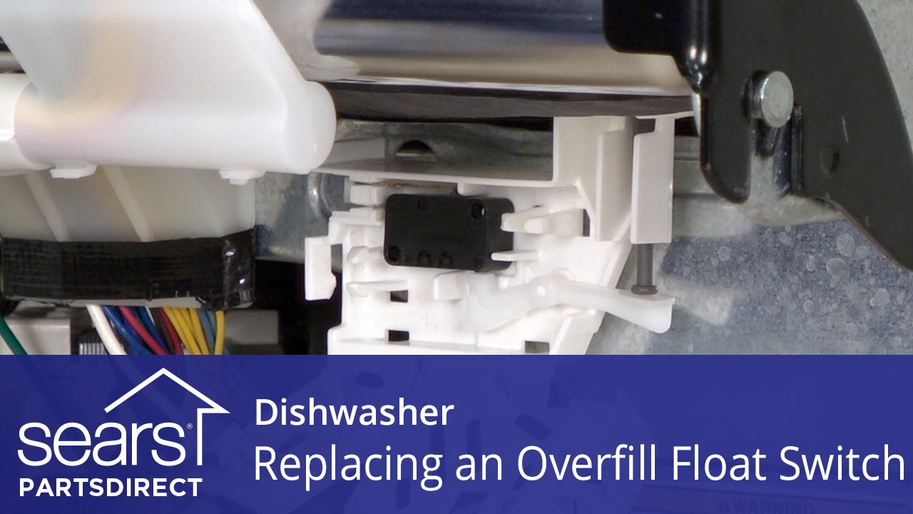 replacing the overfill float switch on a dishwasher [ 1280 x 720 Pixel ]