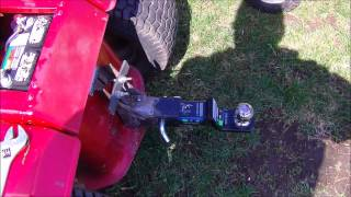 home made lawn mower hitch