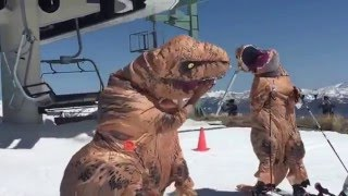 Dinosaur Skiing