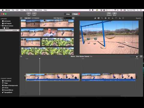 IMovie Tutorial 2015 - Slow Motion | Fast Motion | Reversing Video