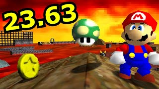 SM64: All 1-Ups in Lethal Lava Land (Outside Volcano) - 23.63 [TAS]