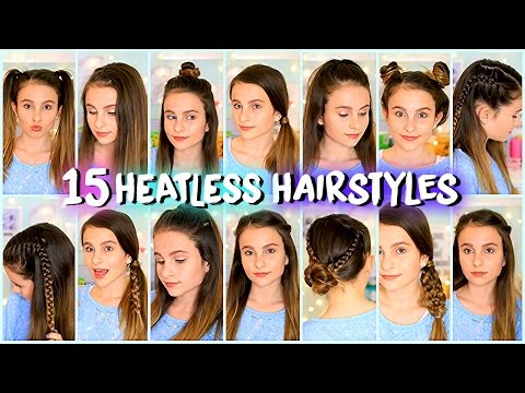 15 Easy & Quick Heatless Hairstyles