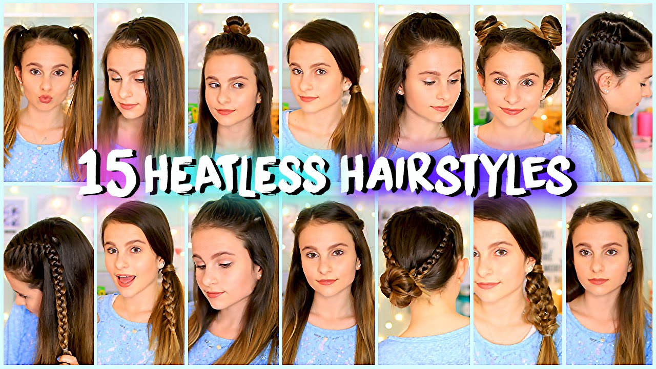 easy quick hair styles 15 heatless hairstyles easy and lovevie 8613 | maxresdefault