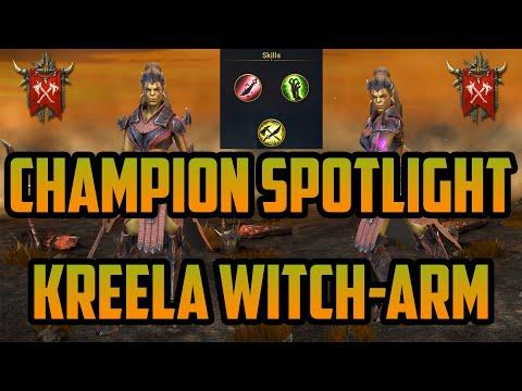 Champion Spotlight: Kreela Witch-Arm (3 Builds) I Raid Shadow Legends