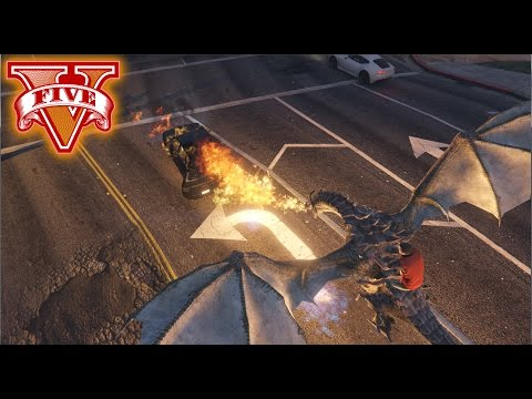 [Download] GTA V Dragons script mod - Dragon invasion, ride, fly and attack