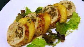 Парфе из кролика с карамелизированными яблоками  Французская кухня