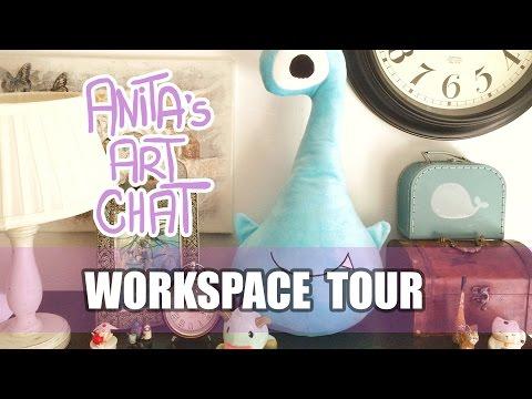 Anita's Art Chat - Work Space Tour