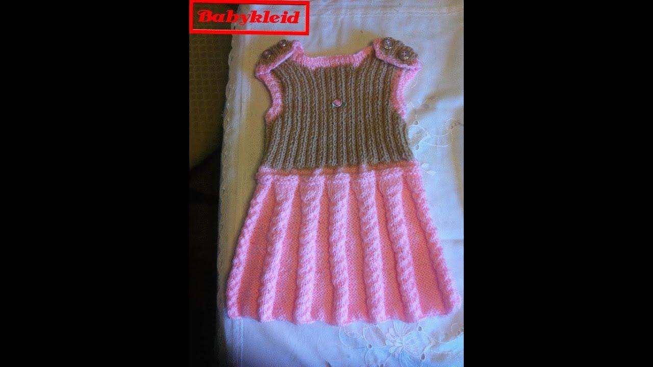 Babykleid Strickenmädchenkleidkinderbekleidungteil 2diy Youtube