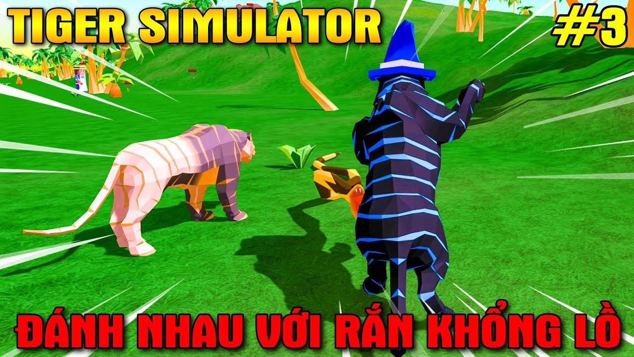 ĐÁNH NHAU VỚI RẮN KHỔNG LỒ CỌP KIA ĐÓN ĐỨA THỨ 2 – Tiger Simulator 3D #3   KiA Phạm