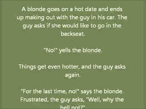 Blonde dating jokes