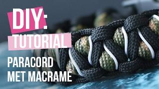 Sieraden maken: Paracord bracelet met macramé ♡ DIY
