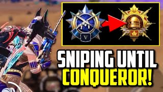 SNIPING IN FINAL CIRCLE WHILE PUSHING TO ASIA CONQUEROR! | PUBG Mobile