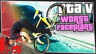 GTA 5 Online - Worst Faceplant (Terminator Truck Chase)