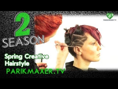 Креативная стрижка с элементами тату Spring creative hairstyle парикмахер тв parikmaxer tv