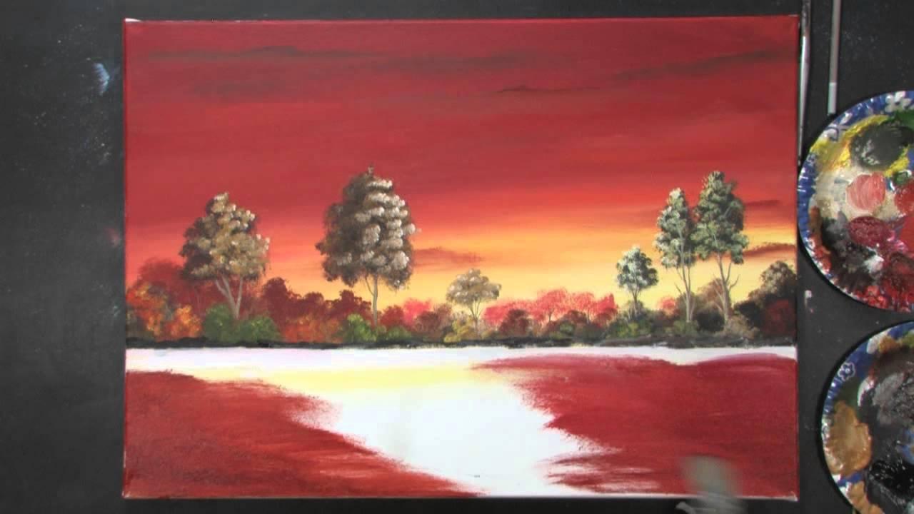 Segelboot sonnenuntergang gemalt  Acrylmalerei - Sonnenuntergang mit Dietmanns Maltechnik - YouTube