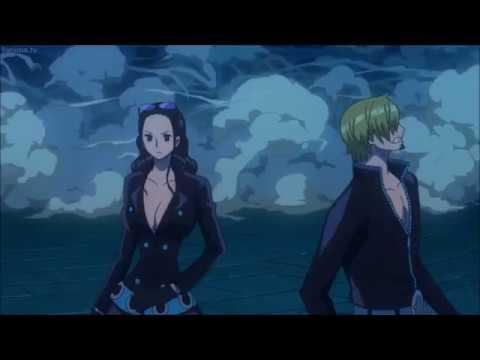 Sanji and Robin vs Tanaka / One Piece Film Gold / ENG SUB HD
