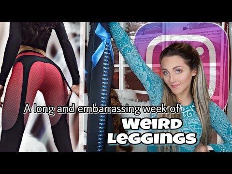 Wearing WEIRD INSTAGRAM AD Leggings for a Week