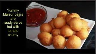 Mysore Bajji/Mysore Bonda  wih Urad dal Recipe by Attamma TV