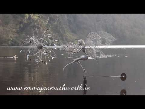 Fairy on the Lake Wire Sculpture by Emma Jane Rushworth Glendalough Ireland