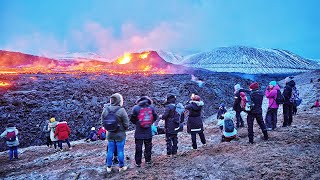 Iceland's erupting volcano: Record-breaking numbers of people visit site over weekend