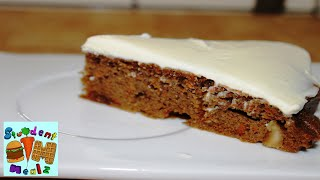 How To Make A Carrot Cake || Student Mealz