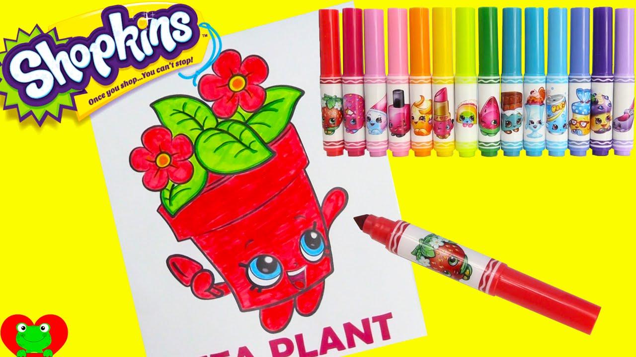 Online coloring shopkins - Shopkins Peta Plant Crayola Coloring With Gudetama And Surprises Youtube