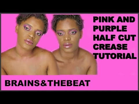 PURPLE & PINK HALF CUT CREASE TUTORIAL thumbnail