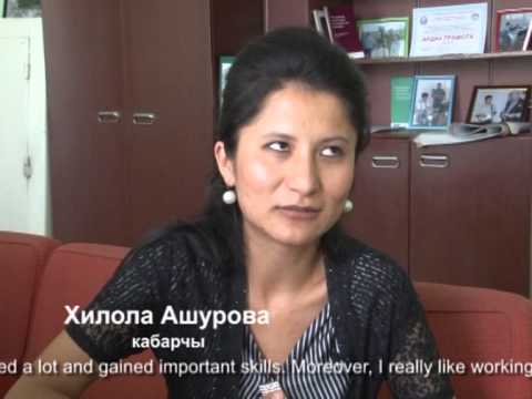 Kyrgyzstan: Interviews with staff at Yntymak multilingual TV and Radio Station