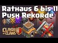 [446] Rh8 auf Rh11 | Rathaus Push Rekorde | Legendenpush Fights | Clash of Clans Deutsch COC