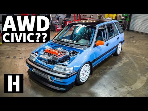 AWD Swapped Turbo Honda Civic EF Party Wagon!