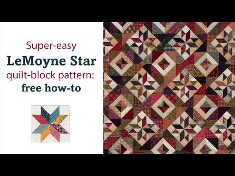 LeMoyne Star quilt-block pattern: free how-to