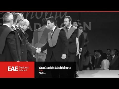 Graduación de estudiantes en Madrid 2016 | EAE Business School