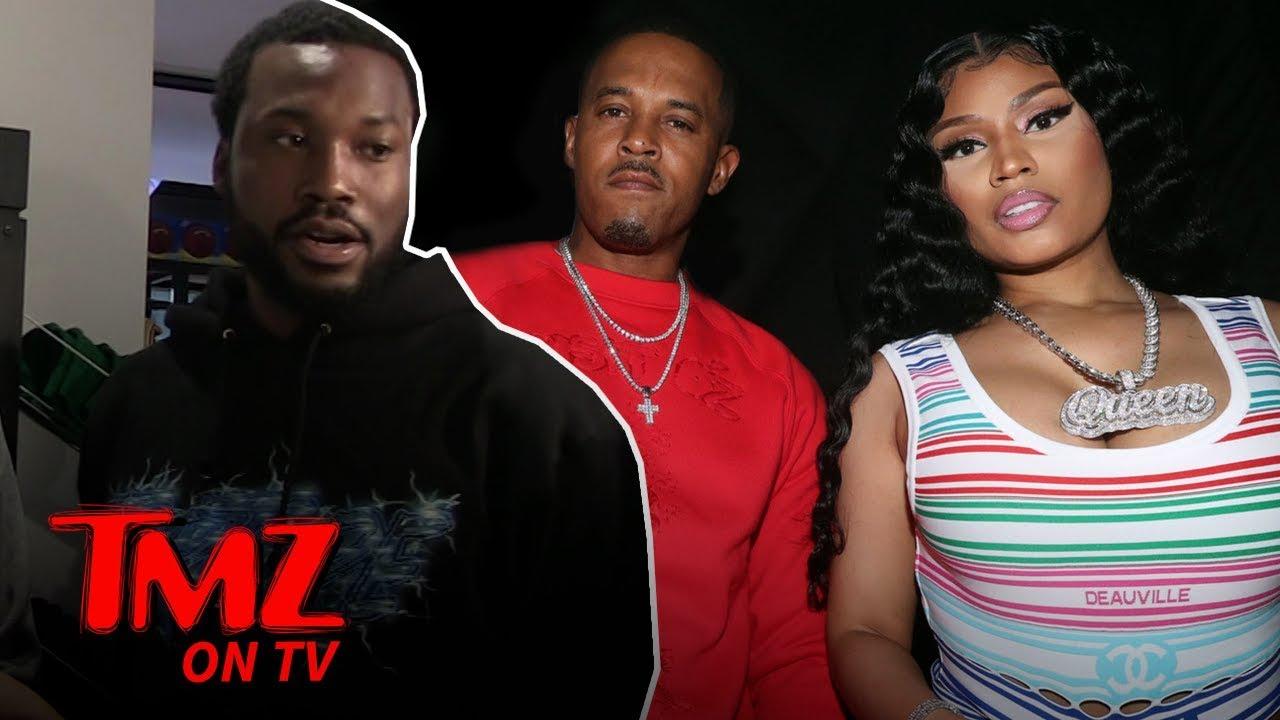 Nicki Minaj & Hubby Stared Down by Meek Mill Before Shouting Match | TMZ TV