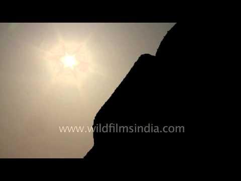 Tomb of Abdul Rahim Khan-I-Khana silhouetted against evening Sun