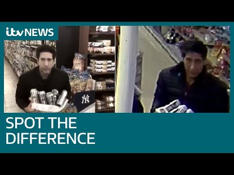 David Schwimmer's uncanny resemblance to alleged thief who 'looks like Ross from Friends' | ITV News