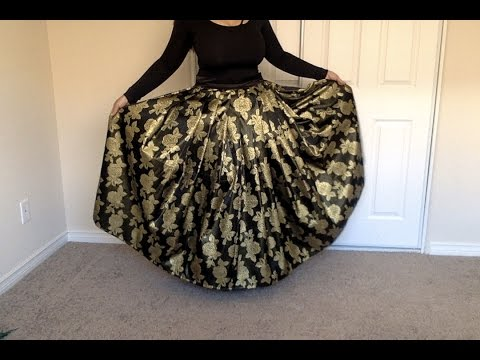 DIY Maxi Skirt Tutorial : How to make a Pleated Maxi Skirt Zip, ( Method )