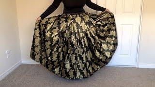 DIY Maxi Skirt Tutorial : How to make a Pleated Maxi Skirt Zip, ( Method )