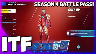 Fortnite Chapter 2 Season 4 BATTLE PASS OVERVIEW + REACTION! (Fortnite Battle Royale)