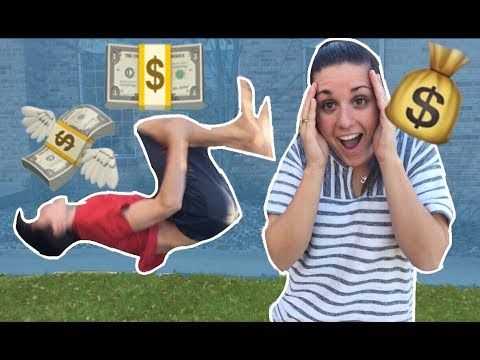 DOING BACKFLIPS FOR MONEY! ***IT WORKED***