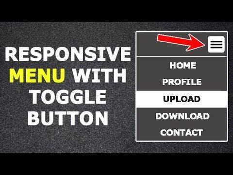 Responsive Menu With Only HTML And CSS | No JavaScript | Responsive Navbar